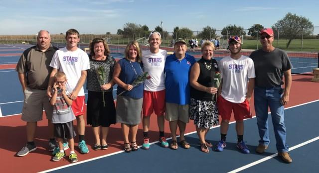 Boys Tennis wins on Senior Night