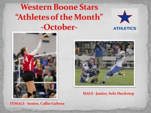 Western Boone Stars Athlete of the month October 16