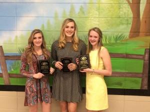 JV Football Cheer Award Winners