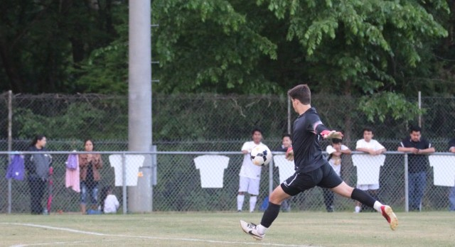 Greenwood High School Boys Varsity Soccer beat Greenville 3-1