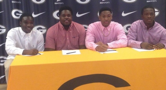 Four Football Players Sign Letter of Intent to Play at Ramah Academy