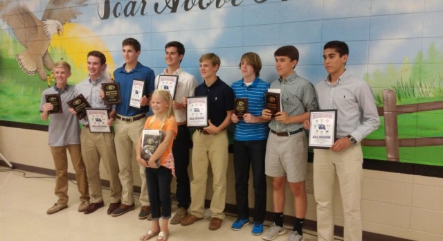 Boys Soccer Present 2016 Awards