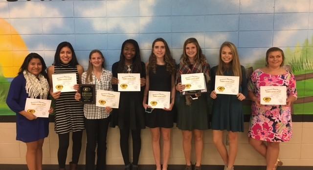 Girls Tennis Awards Presented