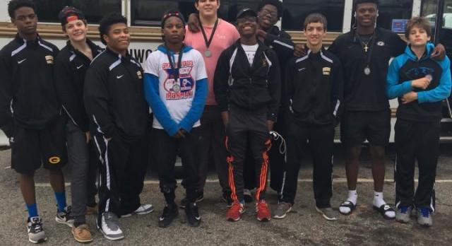 Greenwood High School Boys Varsity Wrestling finishes 4th place