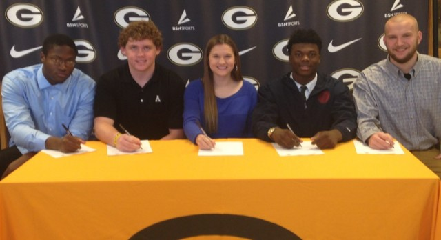 Five GHS Athletes Sign Letters of Intent