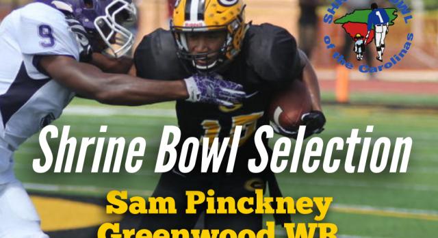 Sam Pinckney Selected to 2017 Shrine Bowl of the Carolinas