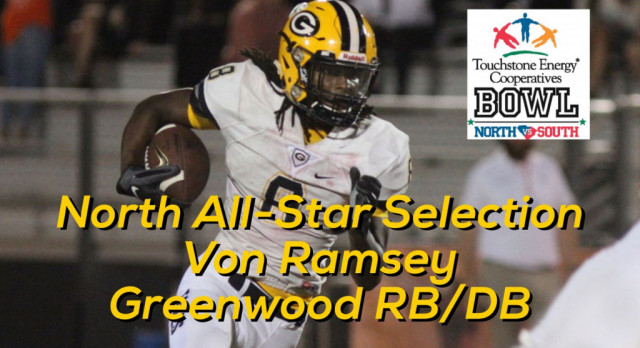 Von Ramsey Selected to North / South All Star Football Team