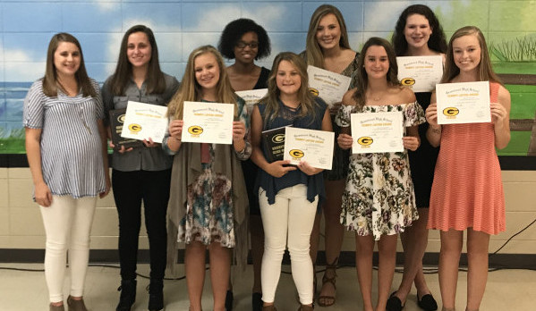 2017 Girls Golf Awards Presented