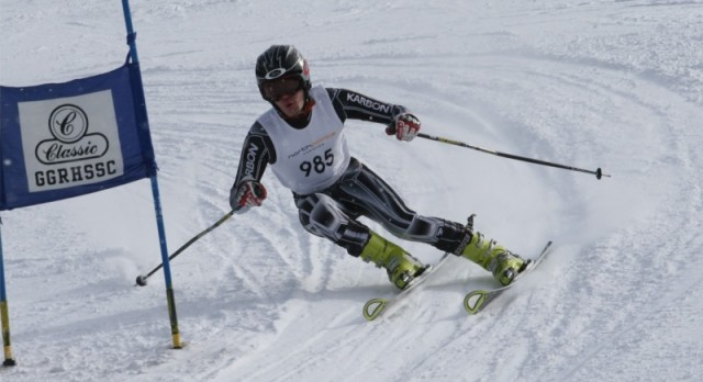 Justin Meuser named all conference in Slalom
