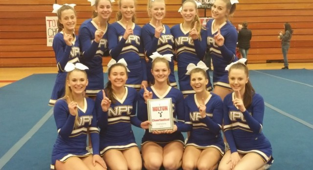 Mustang Cheer wins at Holton Invite