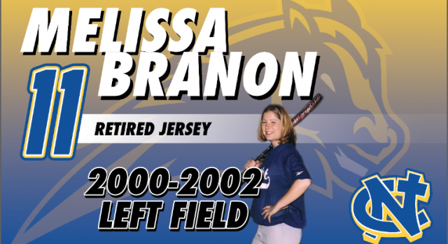 Melissa Branon Softball Jersey to be Retired