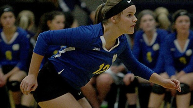 Ellen Waldecker a six-rotation captain for NorthPointe volleyball team