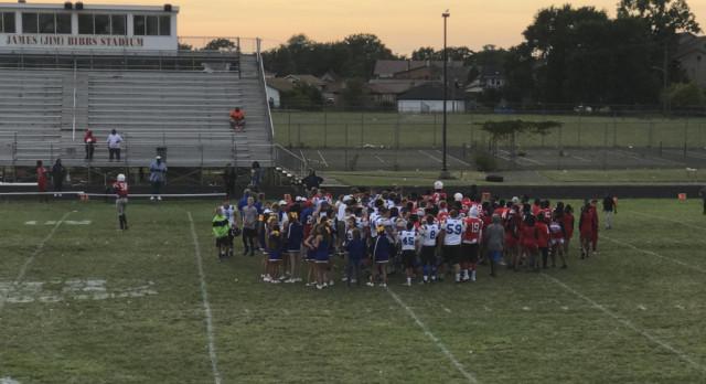 Varsity Football beats Ecorse, 28-27