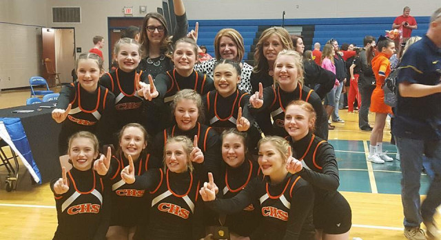 Varsity Competitive Cheer:  DISTRICT CHAMPS!
