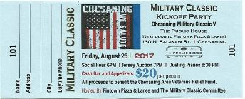 MILITARY CLASSIC V – Kickoff Party/Jersey Auction