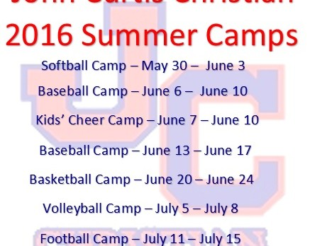 2016 Summer Athletic Camps