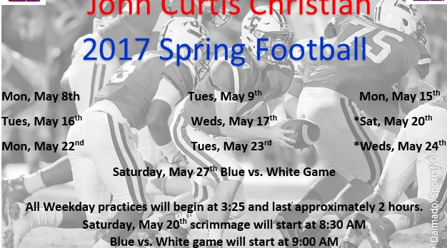 2017 Spring Football Schedule Release