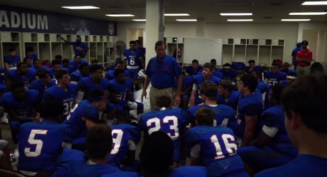 Inside the rocker room pregame speech with Coach JT and the Patriots!