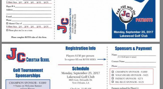 Join us as we Par-Tee with the Patriots at this year's Golf Tournament!