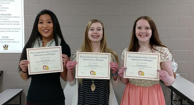 Academic All-State Team and All- Conference Academic Team for Competitive Cheer