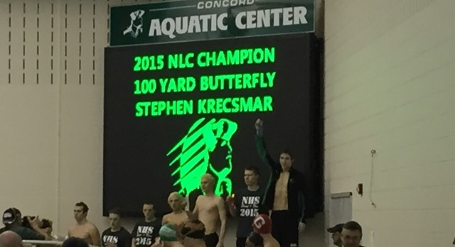2014-15 Boys Swimming NLC Meet Results and All Conference Team
