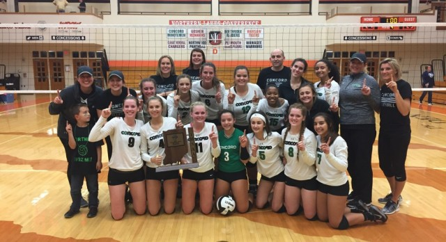 Concord Volleyball – 2016 Sectional Champions!