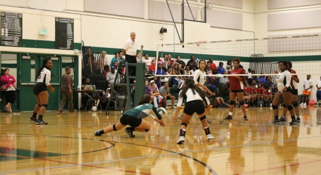 Lady Bulldogs sweep Southwest in district volleyball match! Pictures included.