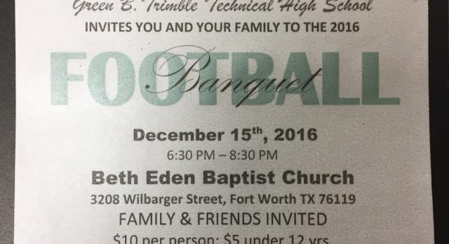 Football/Volleyball Banquet December 15th, 2016