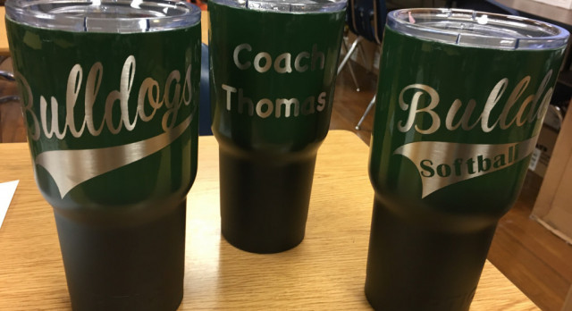 Bulldog RTIC Powder coated cups for Christmas, great gift for Alumni !!!