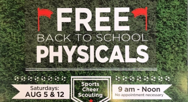 FREE Back to School PHYSICALS!