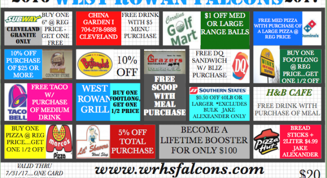 Get Your Falcon Discount Card Today