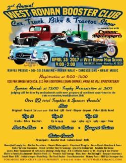 2nd Annual West Rowan Car Show – April 15