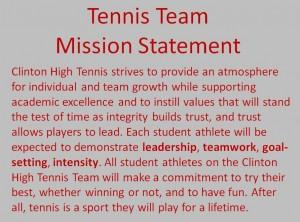 Mission Statements Tennis