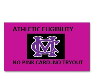 NO PINK CARD=NO TRY OUT
