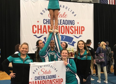 Cheerleading Wins Stunt Competition