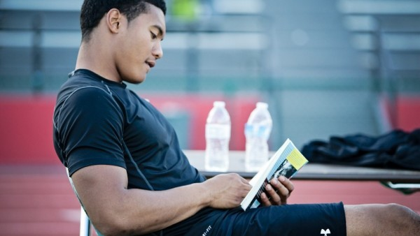 student-athlete-studying