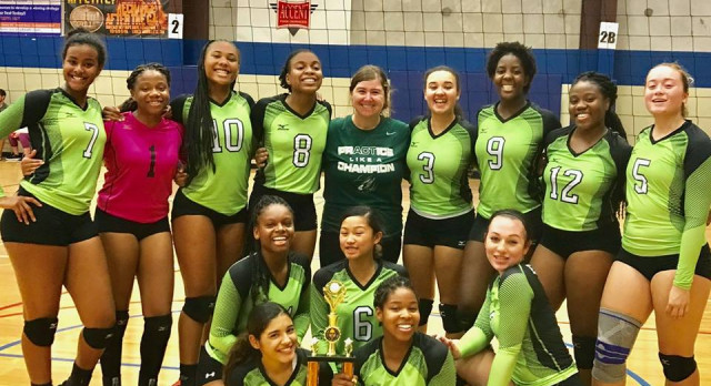 Volleyballers Win Bracket at Westwood Tourney
