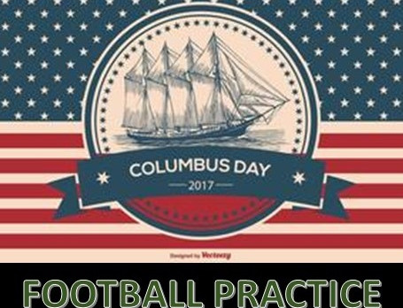 Columbus Day Football Practice 10/9/17