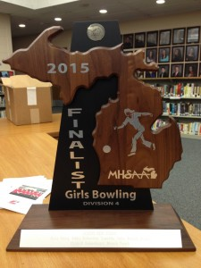 Bowling State Runner Up Trophy 2015