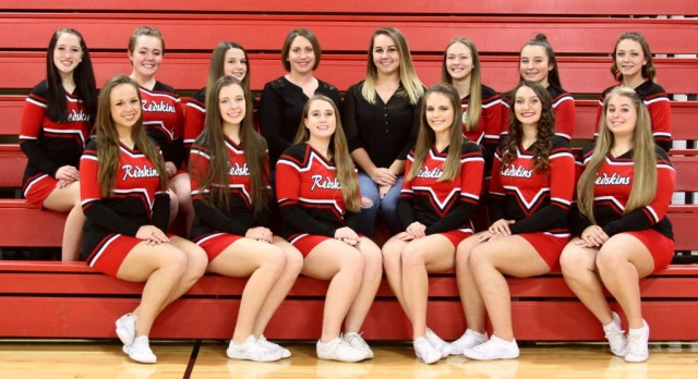 Varsity Competitive Cheer finishes 3rd at Districts to Qualify for Regionals, by Setting School Records