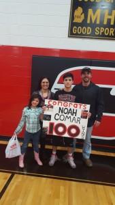 Noah Comar 100 Wins