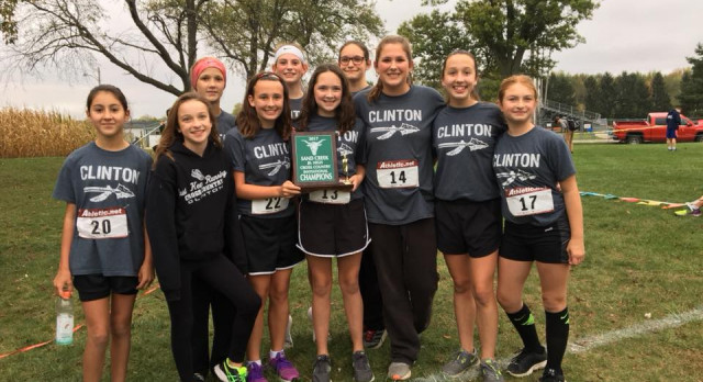 Clinton Coed Middle School Cross Country finishes 1st place