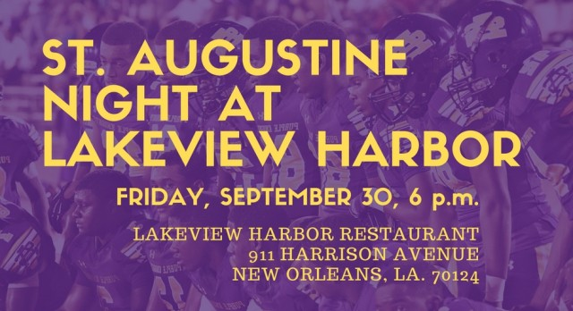 Friday, September 30 is St. Augustine Night at Lakeview Harbor