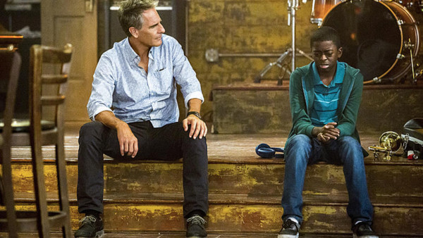 """""""Music To My Ears"""" -- After a Petty Officer and member of the prestigious United States Navy Band is murdered in her home, Pride takes temporary custody of the victim's nephew who is the sole witness to the crime, on NCIS: New Orleans, Tuesday, Dec. 6 (10:00-11:00, ET/PT), on the CBS Television Network.  Pictured L-R: Scott Bakula as Special Agent Dwayne Pride and Zailand Adams as Dustin Matthews Photo: Skip Bolen/CBS ©2016 CBS Broadcasting, Inc. All Rights Reserved"""