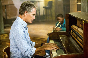 """Music To My Ears"" -- After a Petty Officer and member of the prestigious United States Navy Band is murdered in her home, Pride takes temporary custody of the victim's nephew who is the sole witness to the crime, on NCIS: New Orleans, Tuesday, Dec. 6 (10:00-11:00, ET/PT), on the CBS Television Network. Pictured L-R: Scott Bakula as Special Agent Dwayne Pride and Zailand Adams as Dustin Matthews Photo: Skip Bolen/CBS ©2016 CBS Broadcasting, Inc. All Rights Reserved"