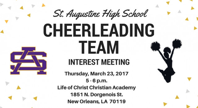 Cheerleading Interest Meeting – March 23