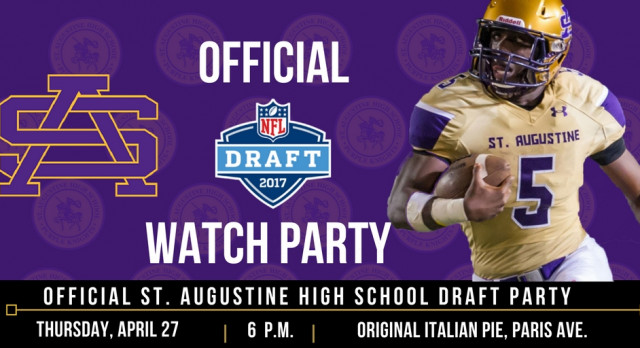 Join us for the Official St. Aug NFL Draft Watch Party