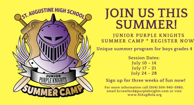 2017 Summer Camp – Junior Purple Knights