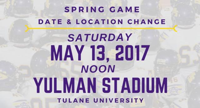 Spring Game Moved to Saturday May 13, Yulman Stadium