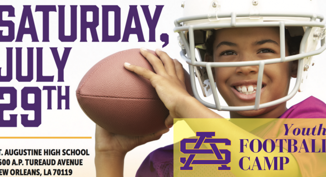 St. Augustine – FREE – Youth Football Camp: July 29